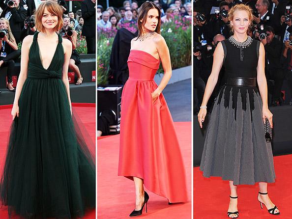 Emma Stone, Alessandra Ambrosio, Uma Thurman at Venice Film Festival