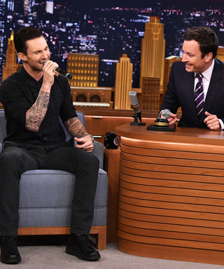 Adam Levine does Michael Jackson and Frank Sinatra impressions on The Tonight Show.