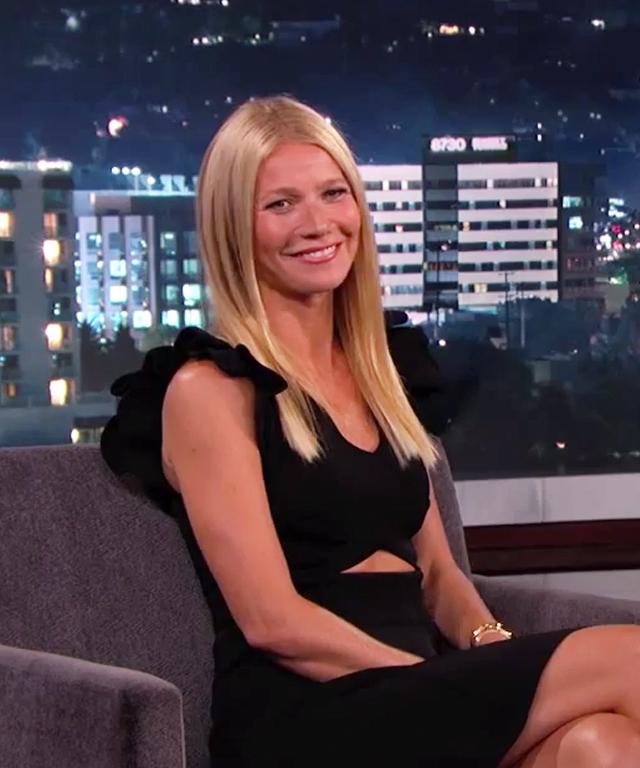 Gwyneth Paltrow visits Jimmy Kimmel Live.