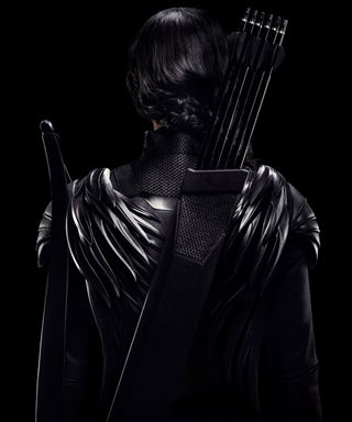 Jennifer Lawrence in Hunger Games Mockingjay poster