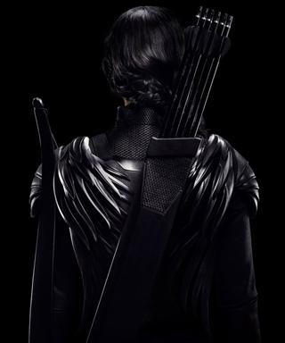 Jennifer Lawrence in Hunger Games Mockingjay poster