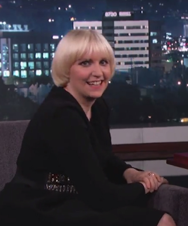 Lena Dunham on Jimmy Kimmel Live
