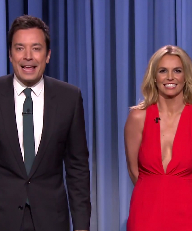 Britney Spears with Jimmy Fallon