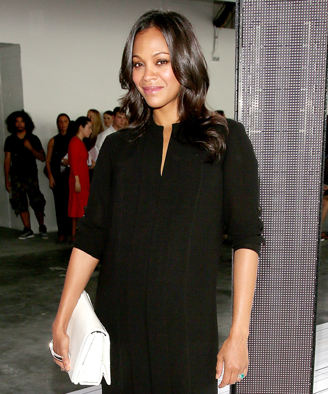 Kate Bosworth and Zoe Saldana at Boss Women Runway Show