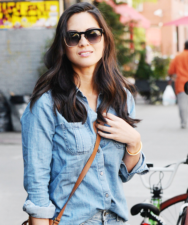 Celebrity Street Style: Denim on Denim