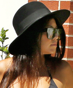 Kourtney Kardashian in Black Bikini