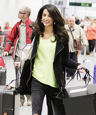 Jet-Set in Style: 64 Celebrity-Inspired Outfits to Wear on a Plane - Amal Alamuddin