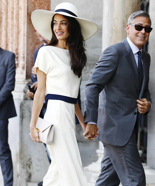 Amal Alamuddin's Wedding Weekend Style
