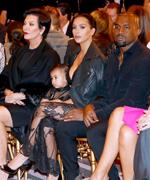 Kardashian-Wests at Givenchy
