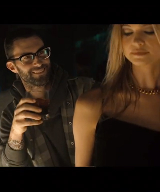 Adam Levine and Behati Prinsloo in Maroon 5 music video.