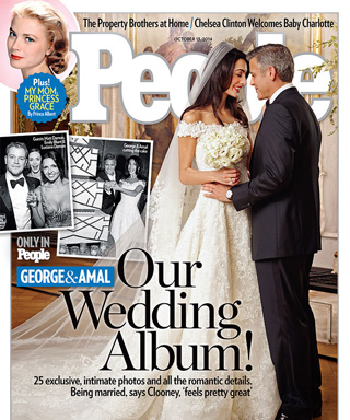 100 Memorable Celebrity Wedding Moments - Amal Alamuddin & George Clooney