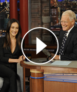 Maggie Q appears on Late Show with David Letterman.