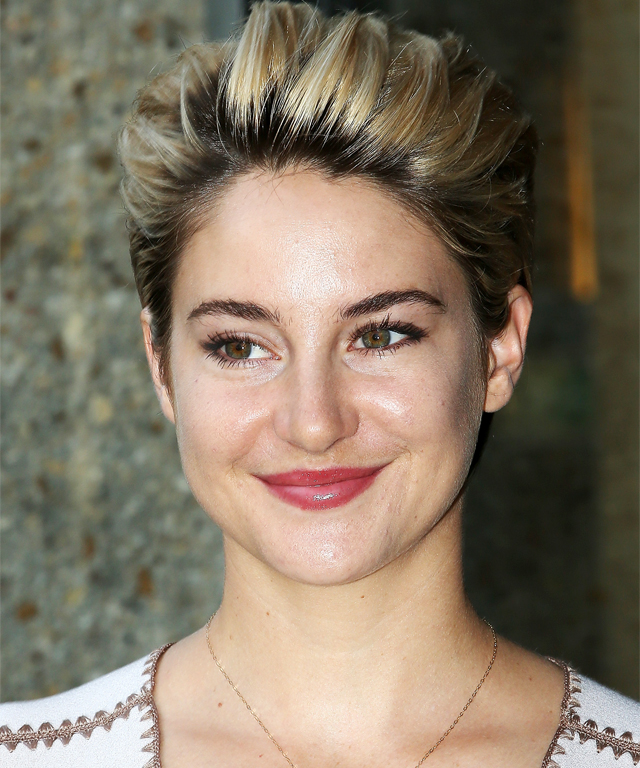 Shailene Woodley is a blonde.