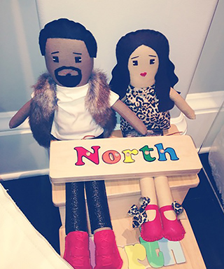 Kanye West and Kim Kardashian Celine's Dolls
