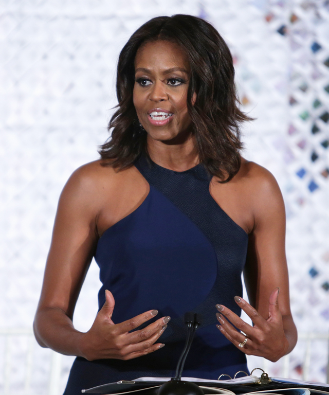 Michelle Obama at White House Fashion Workshop