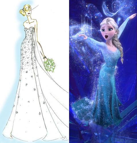 Disney Debuts Elsa Inspired Frozen Wedding Dress Fashion Style