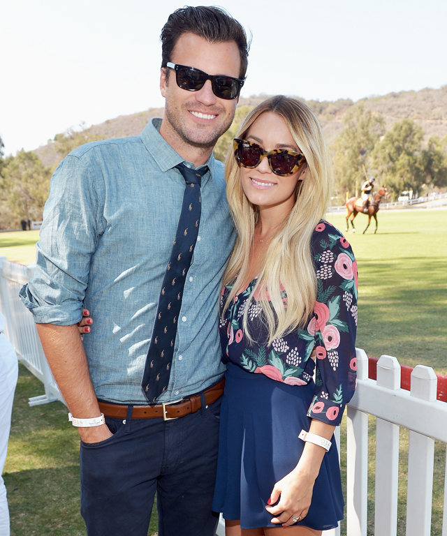 William Tell and Lauren Conrad at Veuve Clicquot Polo Classic