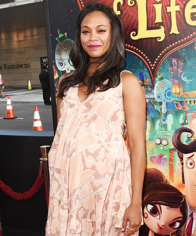Zoe Saldana Maternity Style
