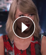 Taylor Swift appears on Jimmy Kimmel Live.