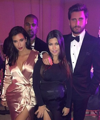 Kim Kardashian, Kanye West, Kourtney Kardashian & Scott Disick