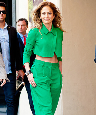 Jennifer Lopez in Green Roland Mouret