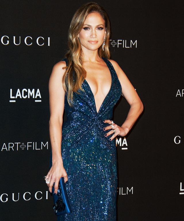 Jennifer Lopez, Kanye West, Kim Kardashian at LACMA Art + Film Gala