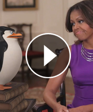 First Lady Michelle Obama and the Penguins of Madagascar in Got Your 6 Video