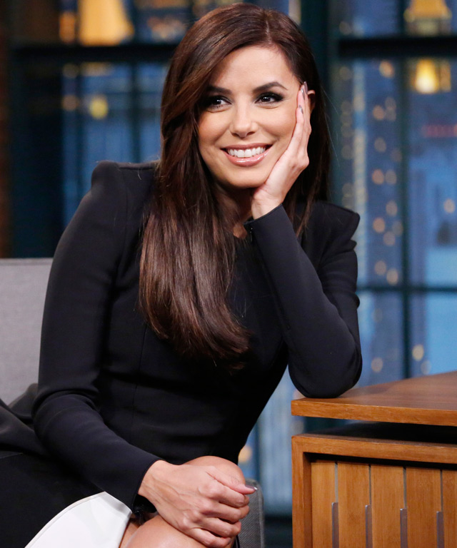 Eva Longoria on making out with Andy Samberg.