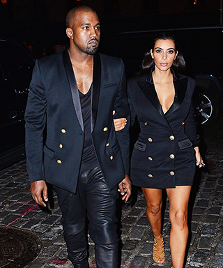 Kanye West and Kim Kardashian in Balmain Jackets