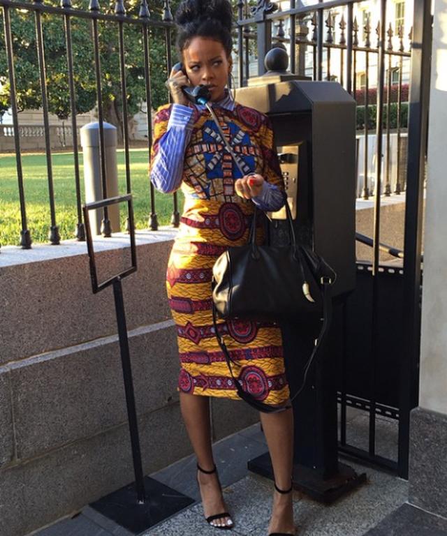 Rihanna at the White House