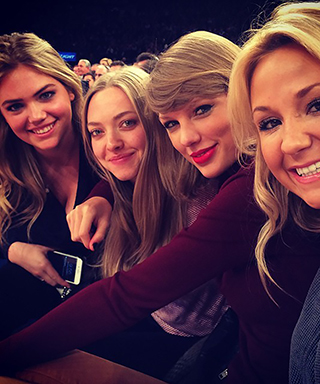 Kate Upton, Amanda Seyfried, Taylor Swift at Knicks Game