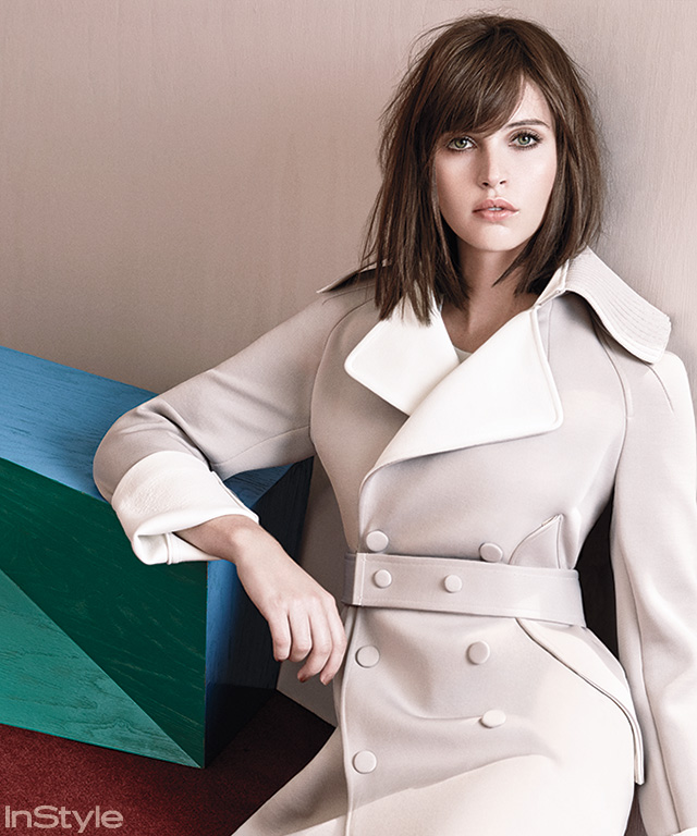 Felicity Jones in InStyle's December Issue