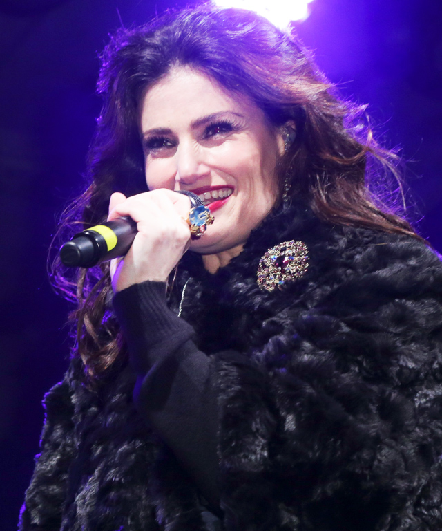 Idina Menzel at Bloomingdale's Holiday Windows