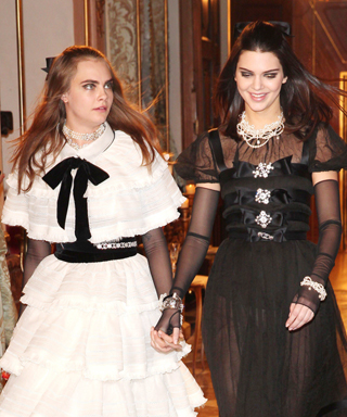 Cara Delevingne and Kendall Jenner at Chanel Show