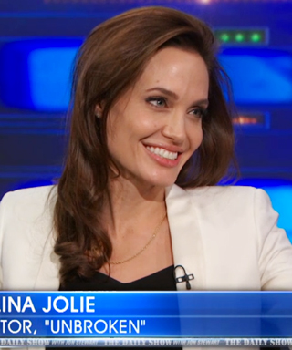Angelina Jolie and Brad Pitt watch The Daily Show