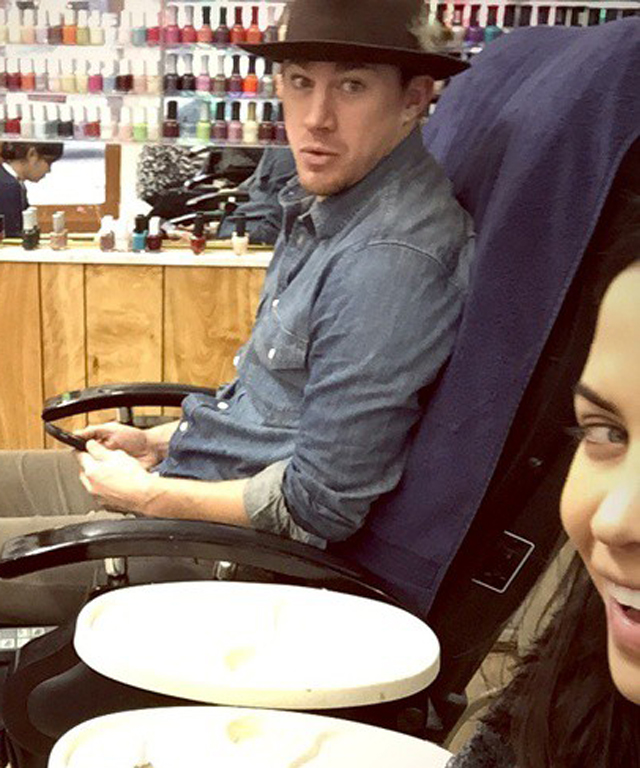 Channing Tatum Pedicure