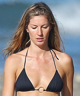 Gisele Bundchen in a Black Bikini