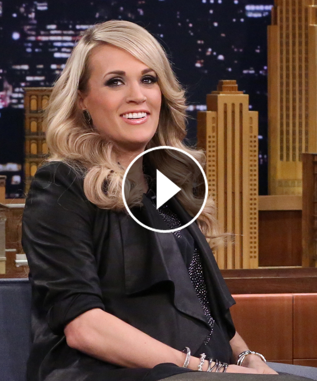 Carrie Underwood sings for her son.