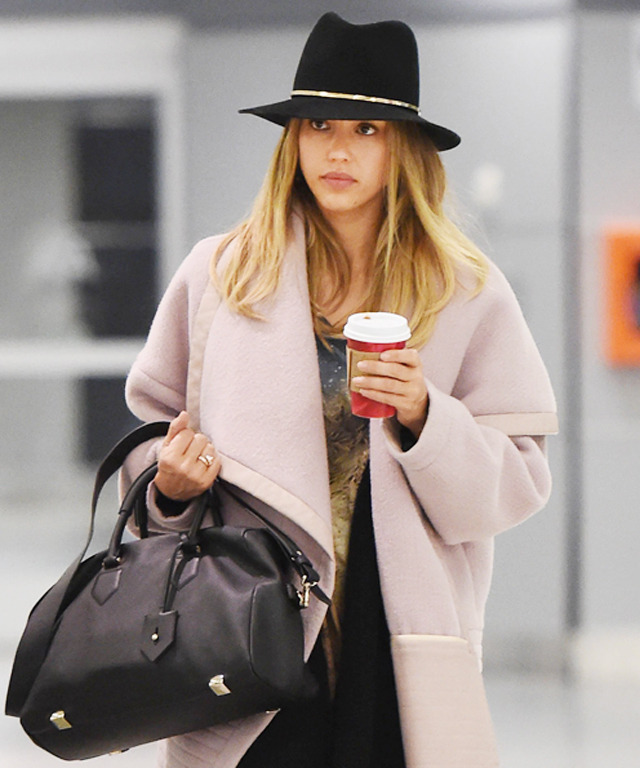 Jessica Alba Bundled Up