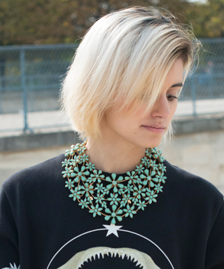 statement necklaces and sweaters