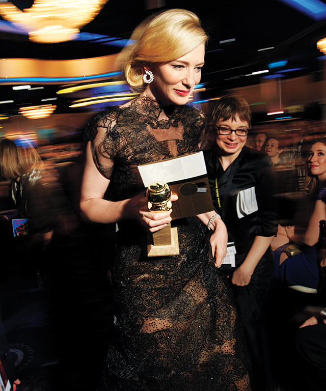 Backstage at the 2014 Golden Globe Awards