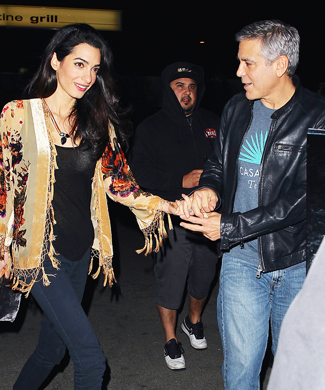 Amal Alamuddin and George Clooney