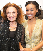 House of DVF Winner Brittany Hampton and Diane von Furstenberg