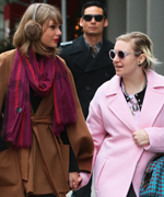 Taylor Swift and Lena Dunham Holding Hands