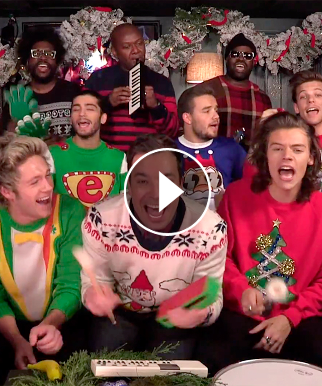 One Direction Classroom Instruments Jimmy Fallon The Roots