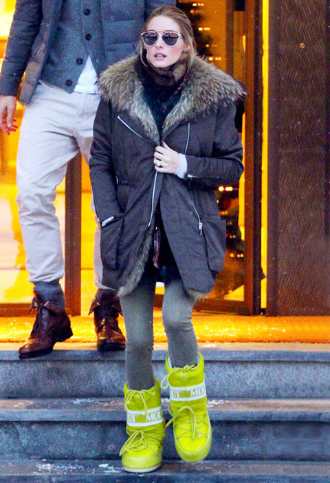 Olivia Palermo in the Swiss Alps