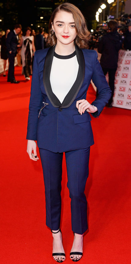 Maisie Williams  Hollywood and Fashion Style Stars - My 8 Best Dressed 1/25/2015