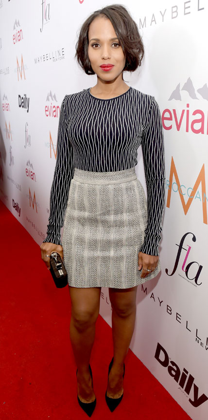 Kerry Washington  Hollywood and Fashion Style Stars - My 8 Best Dressed 1/25/2015