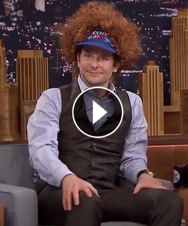 Bradley Cooper Air Guitar Tonight Show