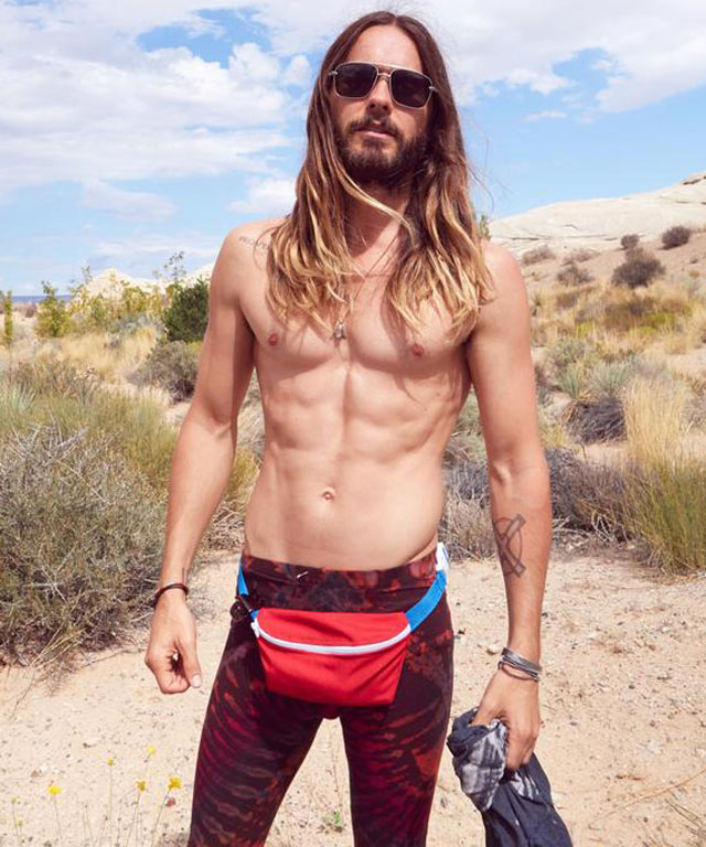 Jared Leto Wearing Fanny Pack Shirtless